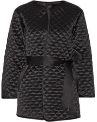Adam Lippes Quilted Silk Satin Jacket - Lyst