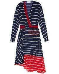 Preen Flintoff Striped Silk Dress - Lyst