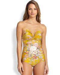 Zimmermann One-Piece Confetti Twist Swimsuit - Lyst