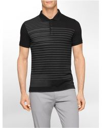 Calvin Klein White Label Ck One Slim Fit Stripe Print Cotton Polo Shirt - Lyst
