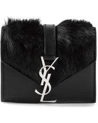 Saint Laurent Monogram Shoulder Bag - Lyst