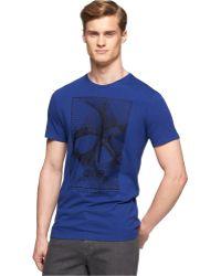 Calvin Klein Crew-Neck Graphic Print Slim-Fit T-Shirt - Lyst
