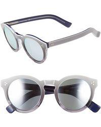 Illesteva 'Leonard Ii' 50Mm Round Sunglasses - Half/ Half Cream/ Havana - Lyst