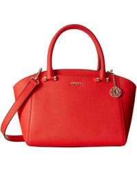 DKNY Bryant Park - Saffiano Small Satchel W/ Det Shoulder Strap - Lyst
