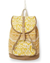 TOMS Saffron Ikat Traveller Backpack - Yellow