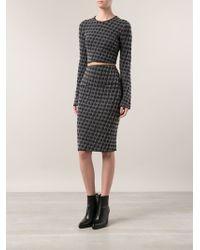 Sonia Rykiel Rose Jacquard Skirt - Lyst