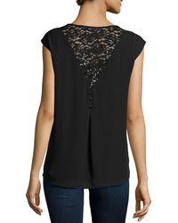 Nikkies Threads - Lace-back Jewel-crewneck Sleeveless Blouse - Lyst