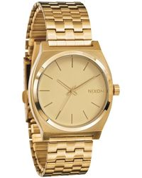 Nixon Time Teller Golden Watch - Lyst