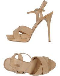 Longchamp Sandals - Natural