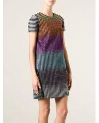 Marco De Vincenzo Rainbow Metallic Dress - Black