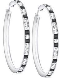 Swarovski Victor  Rolf Frozen Silver-tone Hoop Earrings - Lyst
