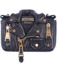 Moschino Black Jacket Model Mini Bag black - Lyst