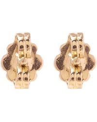 Anna Sheffield - Gold Moonstone Solitaire Stud Earrings - Lyst