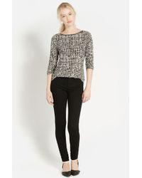 Oasis Texture Print Ls T Shirt - Lyst