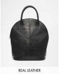 Asos Leather Sleek Kettle Bag - Lyst