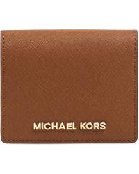 Michael Kors Michael Jet Set Travel Flap Card Holder - Lyst