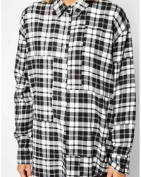 Cheap Monday Flannel Checked Shirt - Lyst