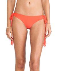 Mikoh Swimwear Dreamland Long Skinny String Tie Side Bottom - Lyst