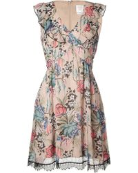 Anna Sui Rose Print Dress - Lyst