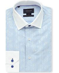 Duchamp Contrast-Collar Jacquard Shirt - For Men - Lyst