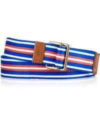 Polo Ralph Lauren Striped Webbed Belt - Lyst