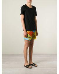 JW Anderson - Landscape Print Swim Shorts - Lyst