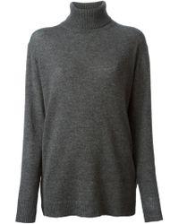 Nina Ricci Lace Inserts Turtle Neck Sweater - Lyst