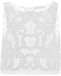 Honor White Neoprene Lasercut Cropped Top - Lyst
