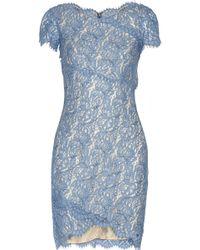 Lover Wrap-effect Lace Mini Dress - Lyst