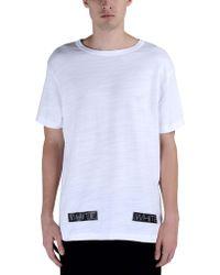 Off White C/o Virgil Abloh Short Sleeve T-Shirt white - Lyst