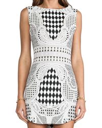 Blaque Label Print Dress in Black - Lyst