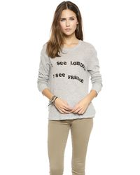 Wildfox Off To Europe Long Sleeve Top  Vintage Lace - Lyst