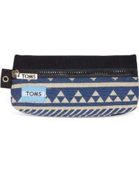 TOMS - Indigo Ikat Traveler Pencil Case - Lyst