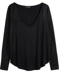 H&M V-Neck Jersey Top - Lyst