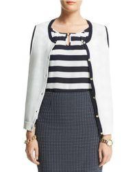Anne Klein Plus Three Quarter Sleeve Cardigan - Lyst