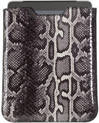 Graphic Image - Ipad Sleeve In Faux Grey Python - Lyst