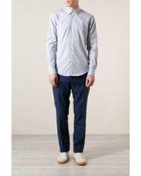 Mr Start Micro Check Shirt - Lyst
