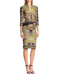 Etro Zig-Zag Paisley Dress - Lyst