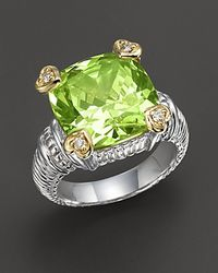 Judith Ripka Peridotcrystal Heart Prong Ring - Lyst