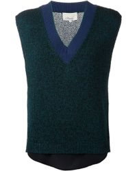 3.1 Phillip Lim Combo Pullover Sweater - Lyst