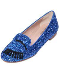 Chiara Ferragni 10Mm Flirting Glitter Loafers - Lyst