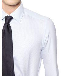 Brioni Slim Fit Cotton Jacquard Shirt - Lyst