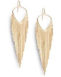 Jules Smith Fringe Earrings - Lyst