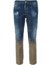 DSquared² Mud Print Cropped Jeans - Lyst
