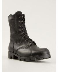 Maison Martin Margiela Black Laceup Boots - Lyst
