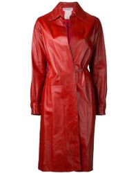 Yves Saint Laurent Vintage Long Coat - Lyst