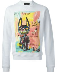DSquared2 Graffiti Print Sweatshirt - Lyst
