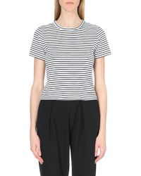 Theory Classic Striped Cotton-Jersey T-Shirt - For Women - Lyst