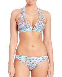 Shoshanna | Boho-print Halter Bikini Top | Lyst