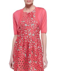 Lela Rose Pink Half-sleeve Shrug - Lyst
